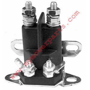 Starter solenoid Universal. 4 pole, 12 volts. Terminal post will accommodate both 5/16