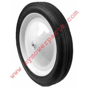 WHEEL STEEL 12 X 1.75 (PAINTED WHITE) 1/2 INCH BEARING