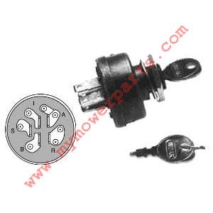 IGNITION SWITCH WHERE 12 VOLT COIL IS USED