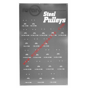 BOARD FOR  STEEL PULLEY ASSORTMENT