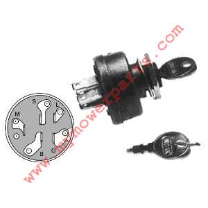 IGNITION SWITCH / STARTER SWITCH 3 Position 5/8 Mounting stem 5 Terminals