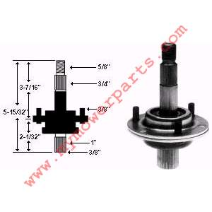 SPINDLE ASSEMBLY Total Length 5-1/2