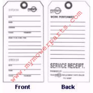 REPAIR TAGS, NOTE SOLD IN A PACK OF 100 YOU MUST ORDER IN QTY OF 100 NOT QTY OF 1