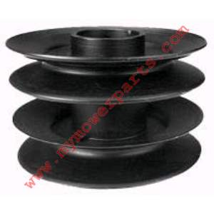 756-0638 DECK PULLEY ID 1-9/16 OD 5 Height 3-1/4 TAKES 2 OF OUR BEARING # 8861 IF NEEDED INTERNAL SNAP RINGS NOT INCLUDED IF NEEDED ORDER OUR NUMBER 916-3020