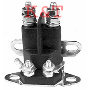 "Starter solenoid Universal. 4 pole, 12 volts. Terminal post will accommodate both 5/16"" & 1/4"" terminal connectors. Mounting bracket will accommodate both chassis and wall mount configurations."