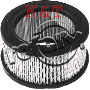 "AIR FILTER ID 3"", OD 4-3/8"", Height 2-1/4"""